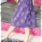 A new purple dress with rose motif