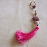 Bag charm in pink