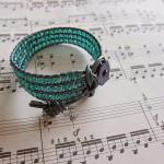 A green bracelet