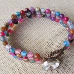 Rainbow Bracelet with Agate Beads