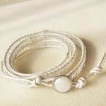 Wrap bracelet in white