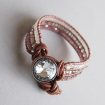 A wrap bracelet with 3 layers
