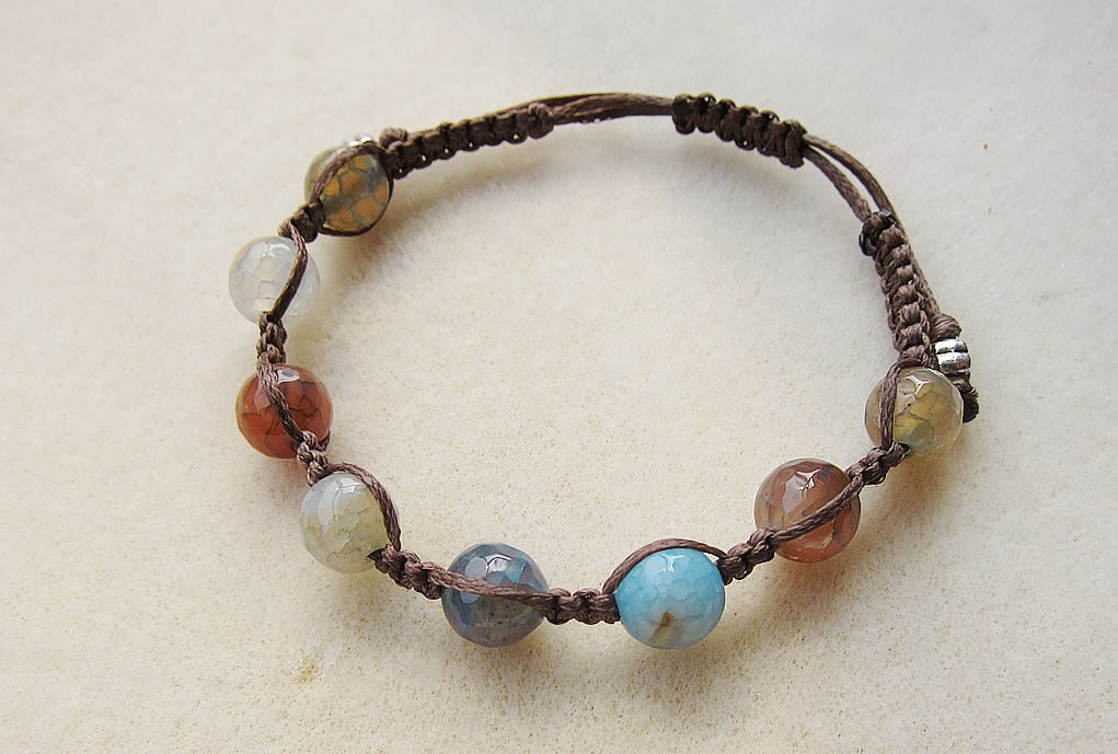agate bracelet brown