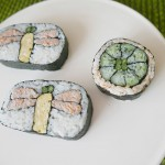 Creative Sushi Roll ( dragonfly / Tonbo and Cosmos flower )