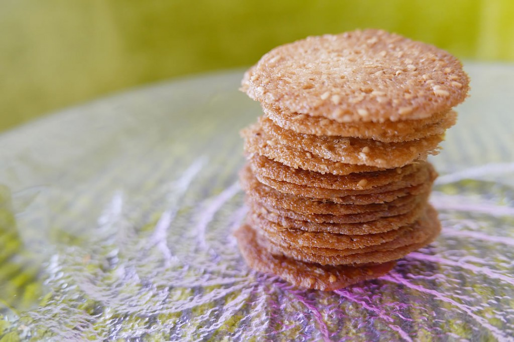 Sesame cookies / Langues de Chat