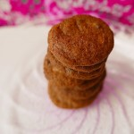 Coffee cookies with white chocolate chips / crunchy