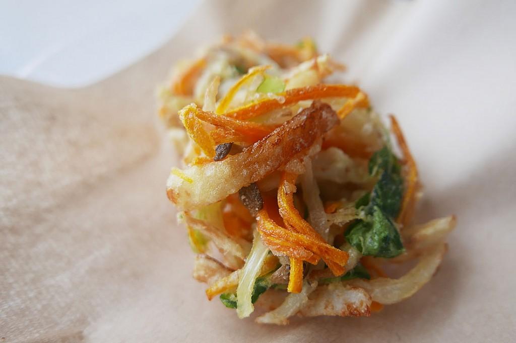 Mixed vegetables tempura Fritters (kakiage)