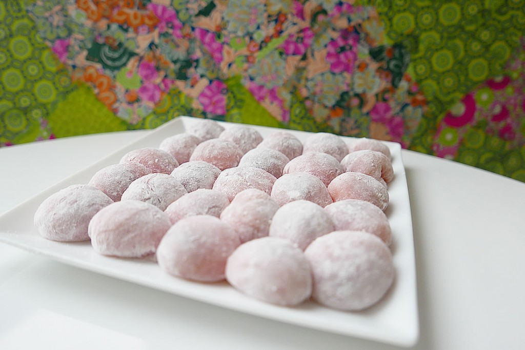Mochi with Nutella chocolate