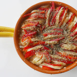 Japanese inspired potato paprika Ratatouille