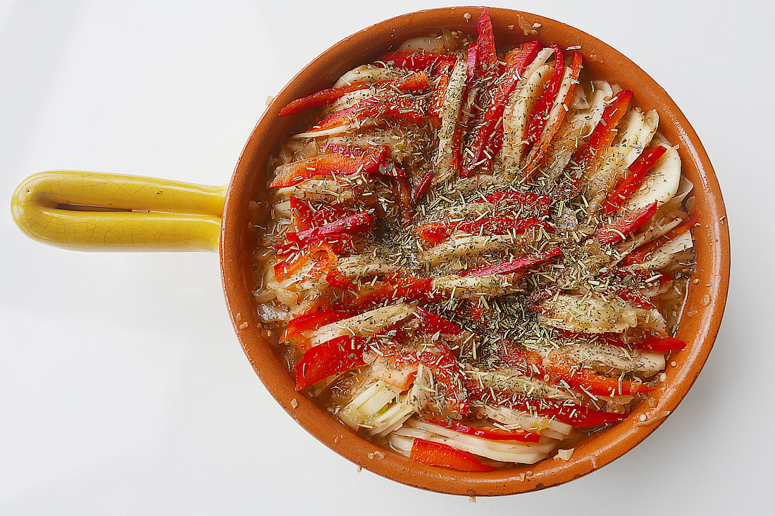 Japanese-inspired Ratatouille - potato and paprika