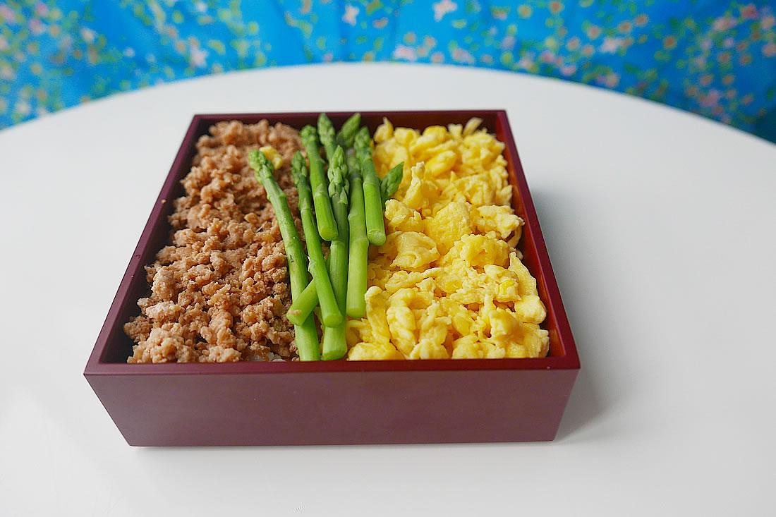 Tri-Coloured Japanese rice bowl - Sanshoku bentou