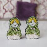 CREATIVE SUSHI ROLL – KAZARI SUSHI – Matryoshka doll