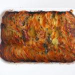 Potato chips gratin