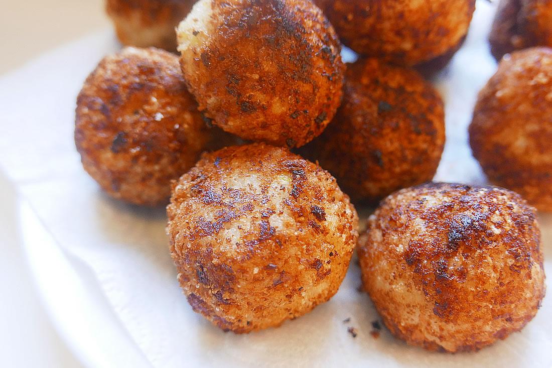 Salmon rice balls croquette – onigiri