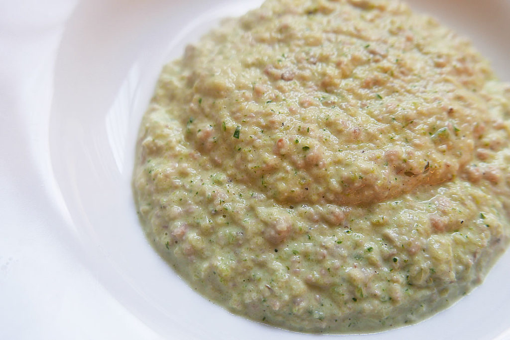 Zucchini – miso cream paste for pasta