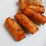 Chicken cream spring rolls
