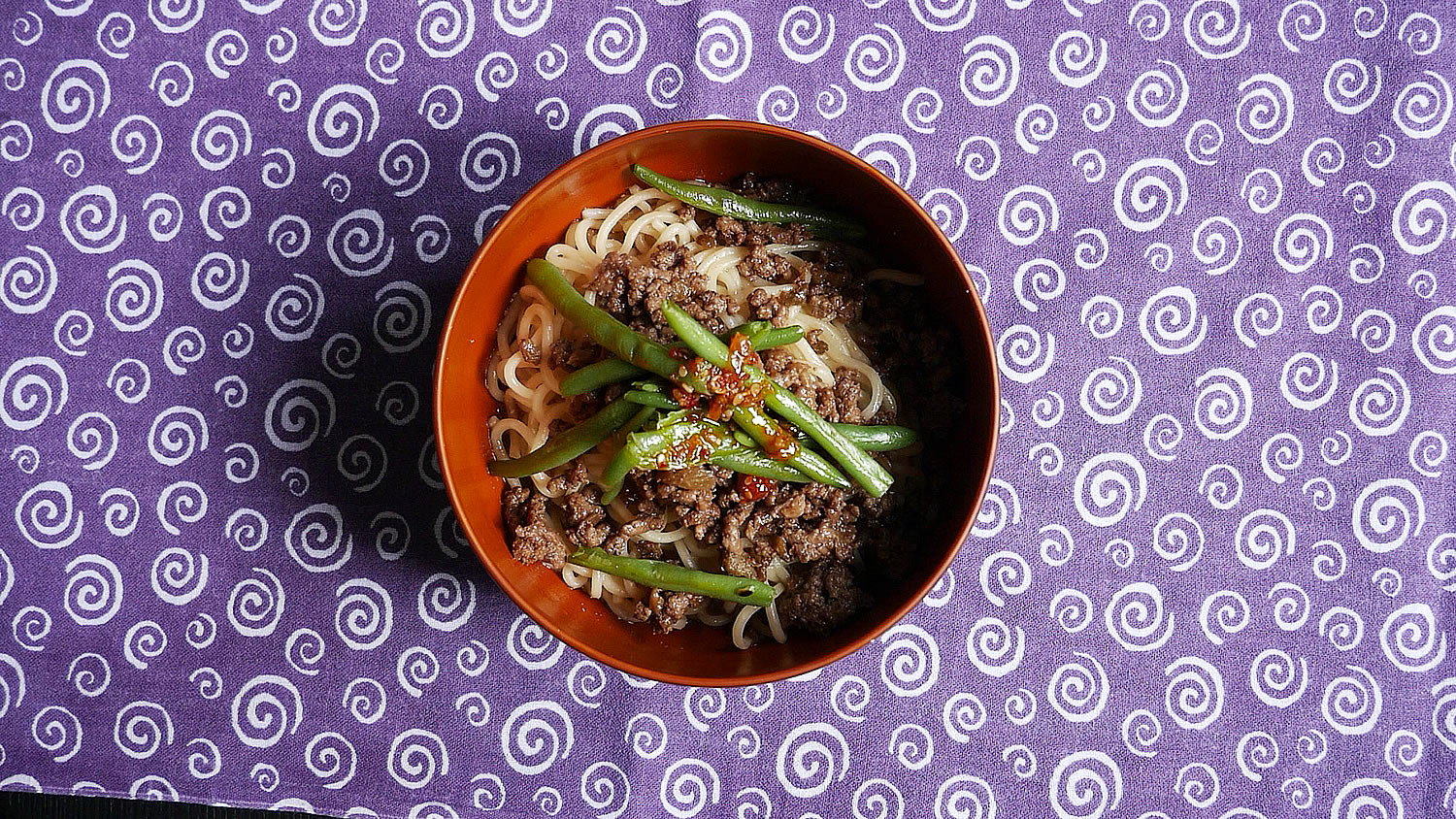 Spicy sichuan noodles without soup