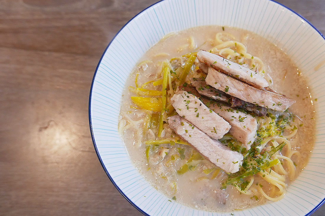 Tonkotsu ramen with soy milk