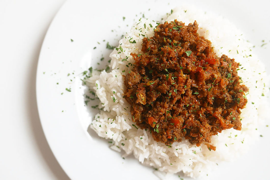 """Japanese style """"dry"""" Curry"""