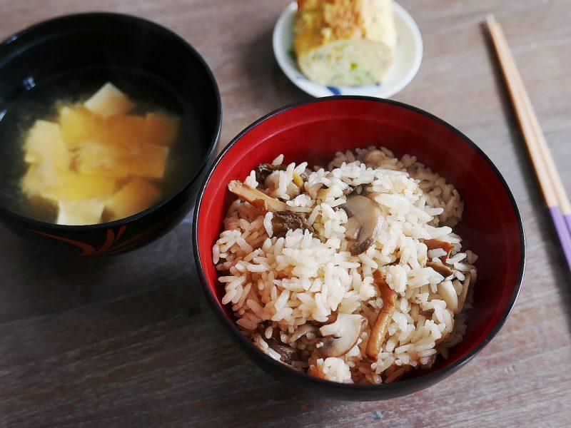 Takikomi gohan – Mixed rice with Cep, Girolle, brown mushroom
