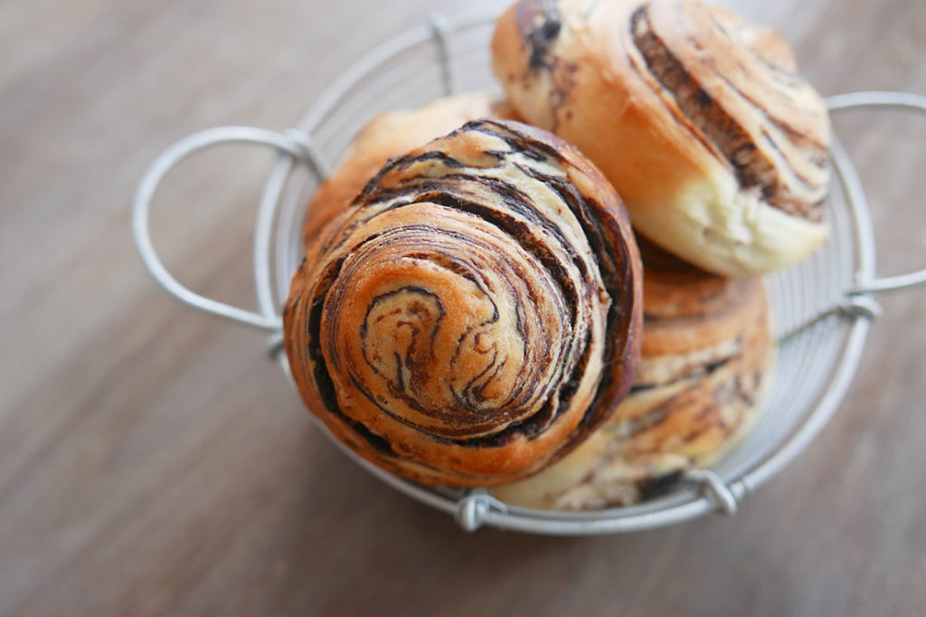 Marble chocolate bread