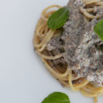 Mushroom sauce with soy milk