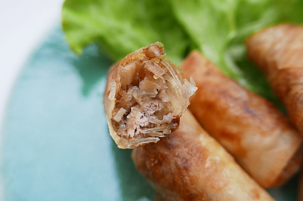 Spring roll of lotus root & bean vermicelli