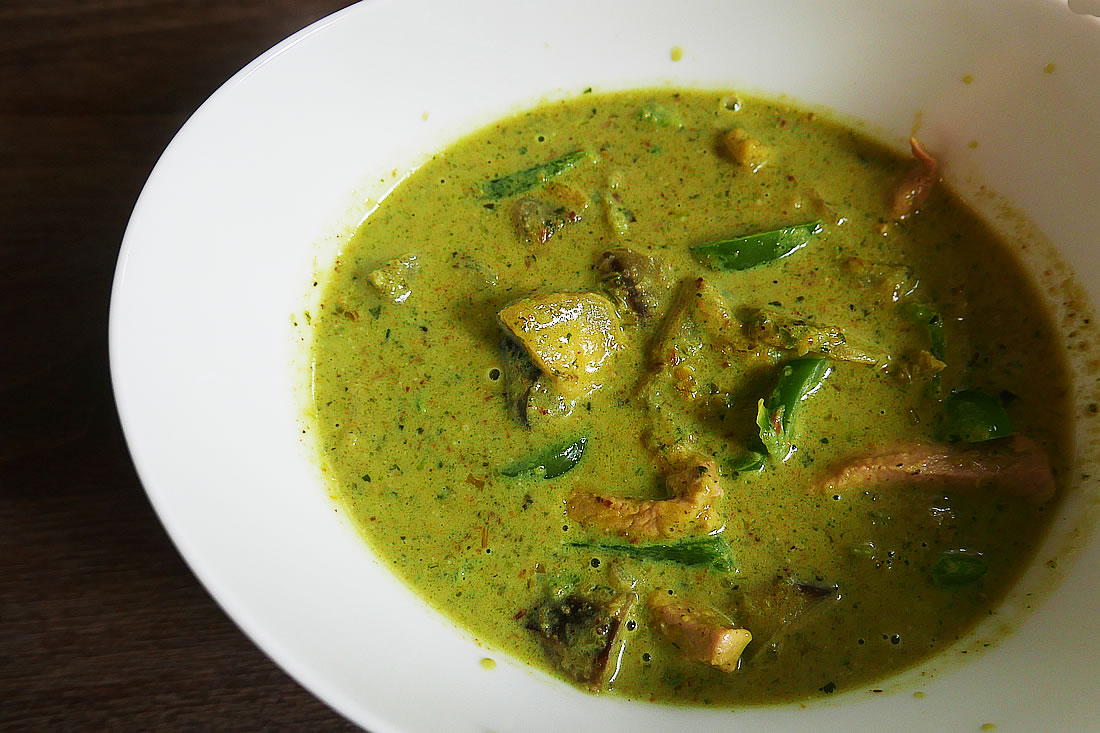 Thai green curry with homemade paste