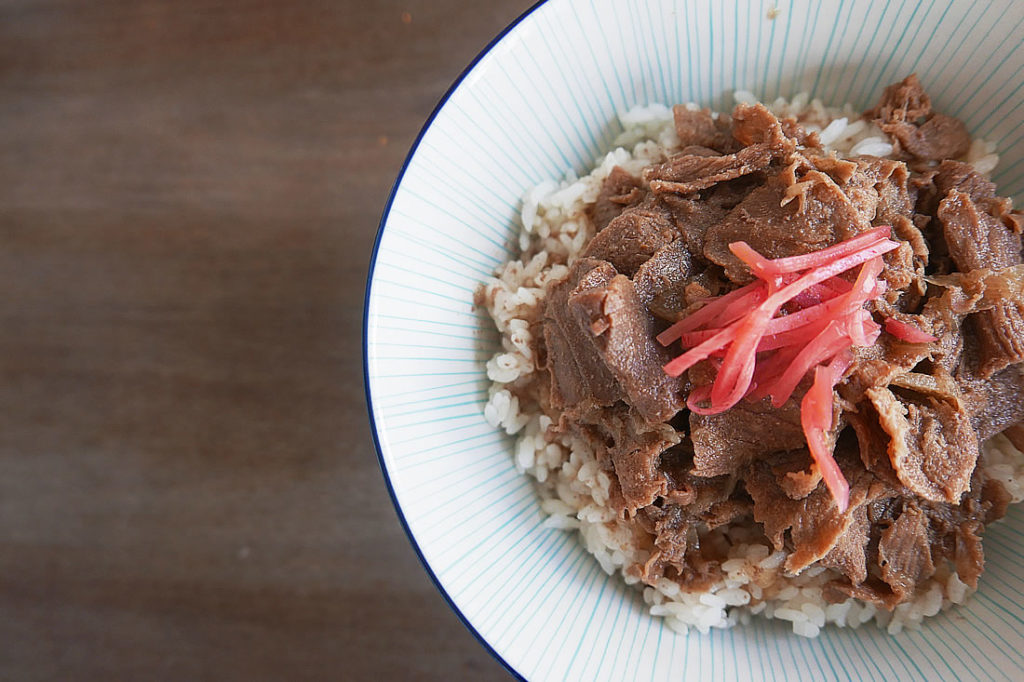 Beef on rice (Gyudon)