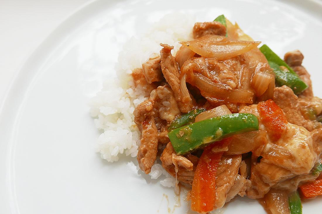 Easy vegetable pork stir-fry