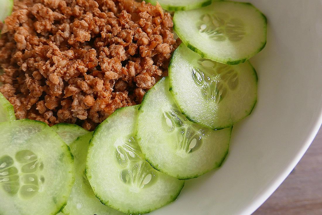 Caramelised ground Pork with rice