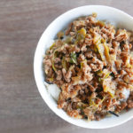 Quick ground beef and rice bowl