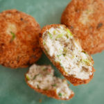 Shrimp and tofu croquettes