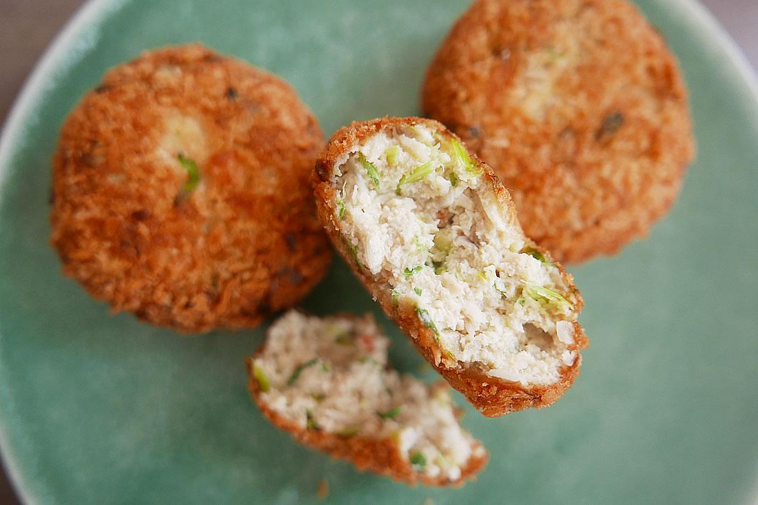 Shrimp and tofu croquettes