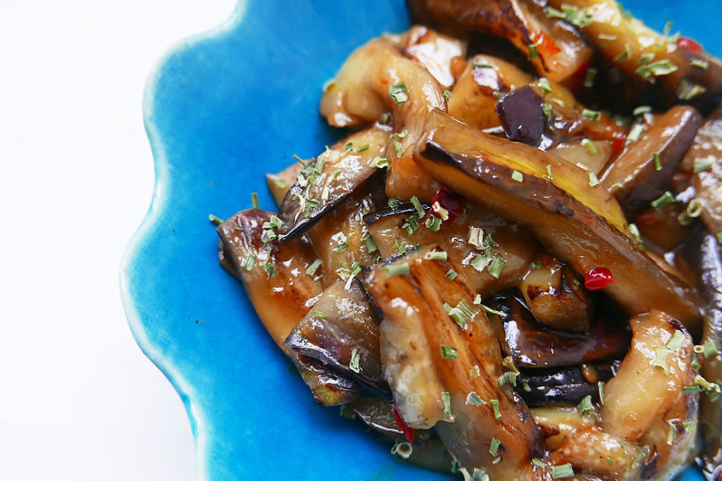 Sweet and spicy eggplant – asian style