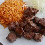 Lok lak with vietnamese red rice