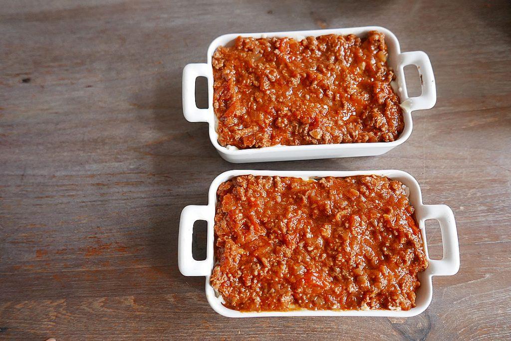 Meat doria - Bolognese Rice Gratin