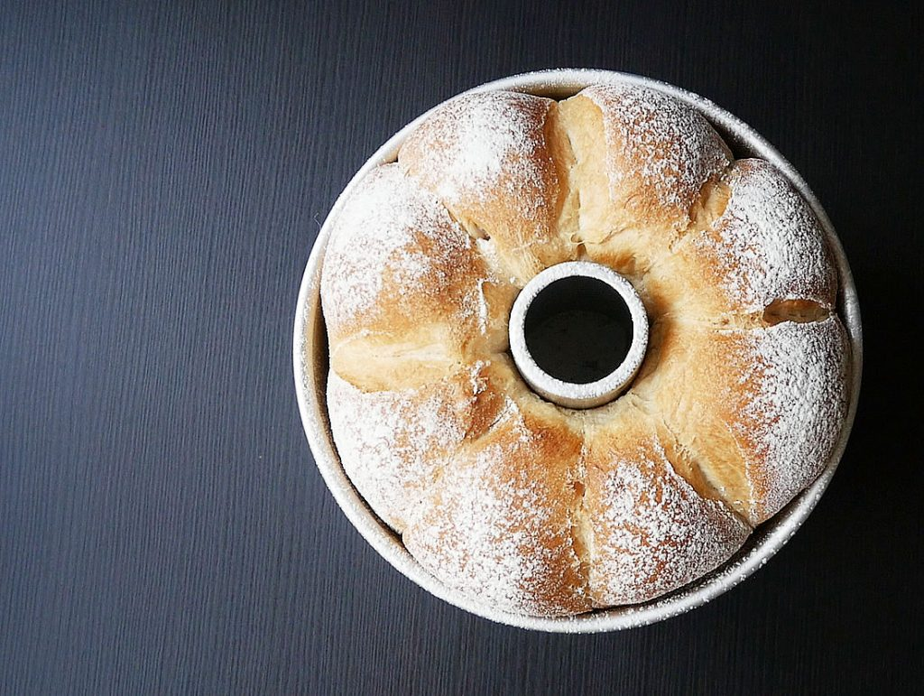 Soft bread in chiffon cake mold