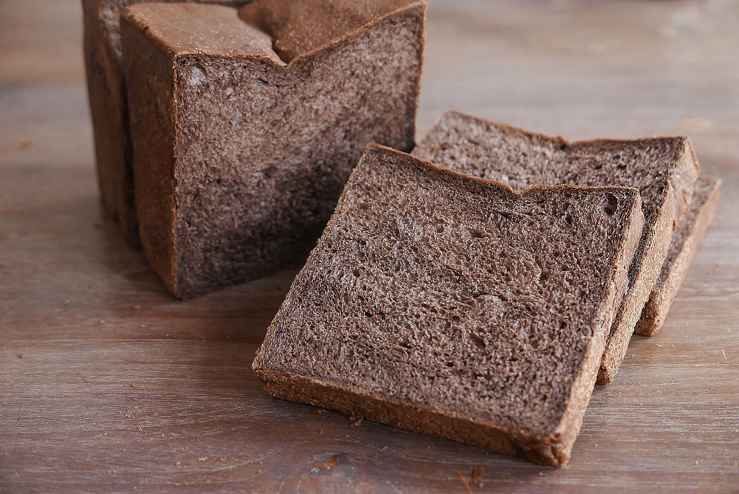 Black bread loaf - Black shokupan