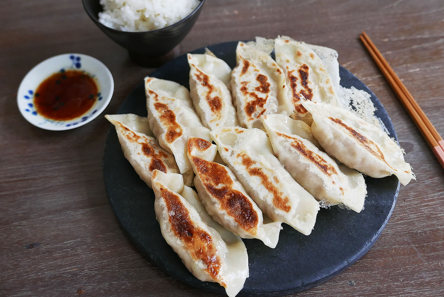 Juicy Japanese Gyoza