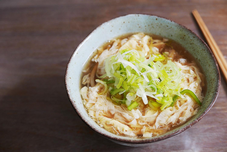 Egg drop noodle soup - Tamago toji udon