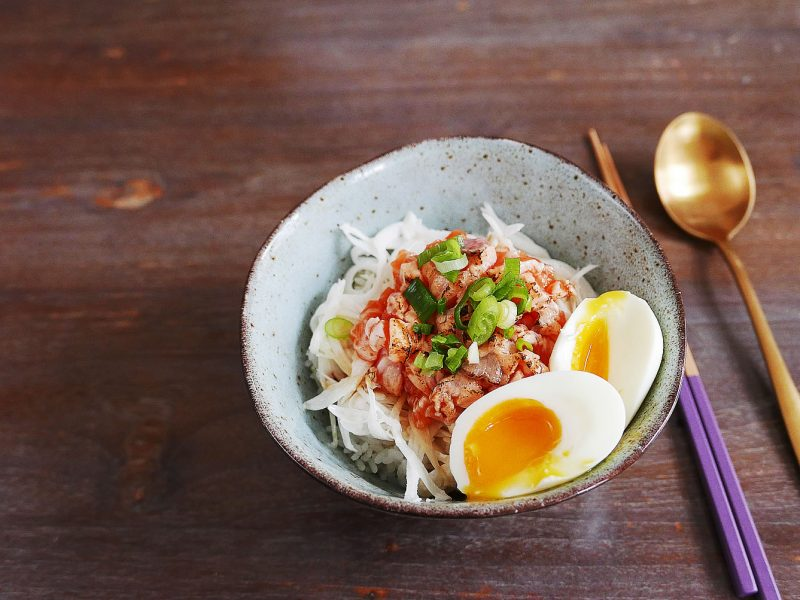 Salmon Donburi Rice Bowl - Quick Lunch